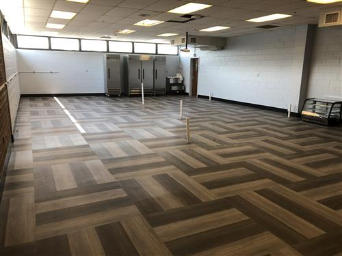 New Flooring in Culinary Lab