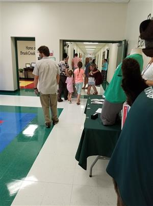 Photo of Students and families at BCES