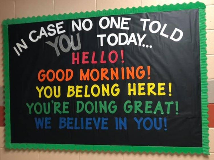 Photo of Hello Bulletin Board at HSES