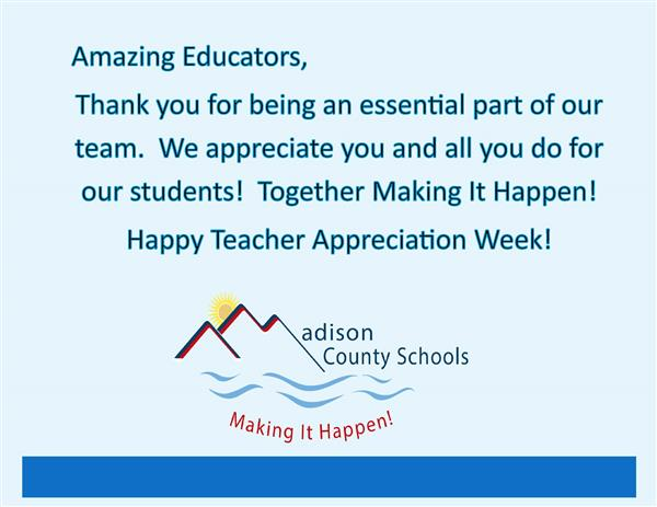 Thank you Educators for all you do!