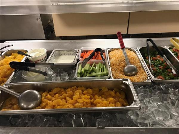 Photos of cafeteria lunch at Madison Middle School