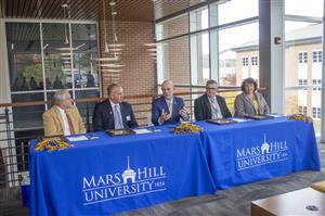 Photo of Superintendent and Mars Hill University President