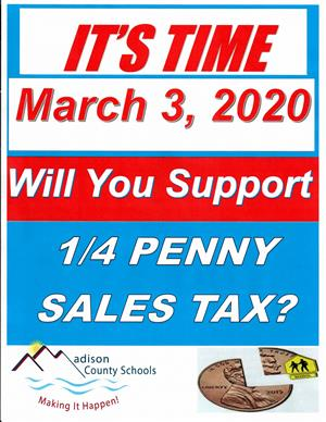 Its Time One Fourth Penny Sales Tax Flyer